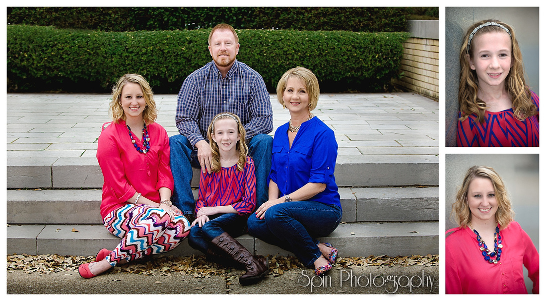 family portraits downtown Longview by Spin Photography